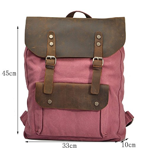 Hundred bandoulière Uk double plein Camping fille Randonnée toile en Lake cuir unisexe de Sacs dos loisirs à air à Daypacks dos à en Sac sac Sac pour de Green College Match wY6Sqaqz