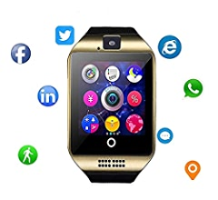 Smartwatch with Camera & Music Remote for Android - Smart Watch Fitness Tracker with Audio and Image and Camera for Men & Women (Silver3)