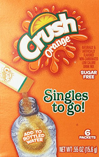 Orange Crush Sugar Free Singles to go 6 packets New just add to water bottle