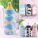Catnew Fashion Cute Kids Feeding Bottle Squishy Toy Milk Cow Print Scented Children Playset