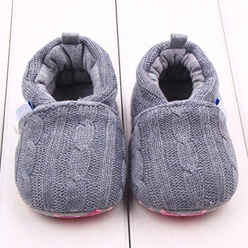 Tefamore Zapatos de niño pequeño Del bebé con la de deporte del estilo de la manera Suela suave antirresbaladiza Gris