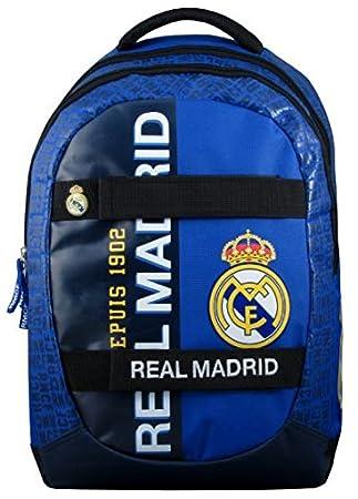 Real Madrid - Mochila Infantil con Ruedas Mixta, Color Azul: Amazon.es: Deportes y aire libre