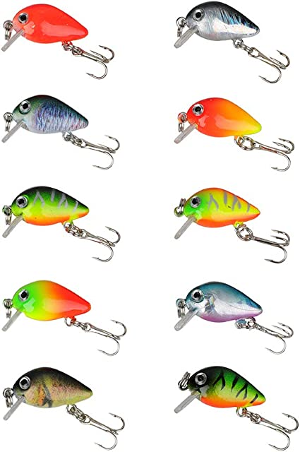 Walleye Fishing Equipment for Freshwater Saltwater for Freshwater//Saltwater//Topwater Bass Fishing Lures Hard Baits Trout Redfish Fishing Lures Tackle Kit
