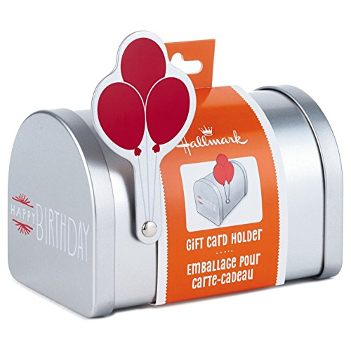 Large Product Image of Hallmark Gift Card Holder (Miniature Mailbox With Birthday Balloons)