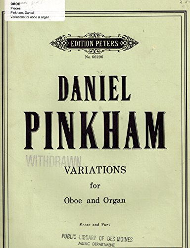 (Variations For Oboe and Organ; Score and Parts)