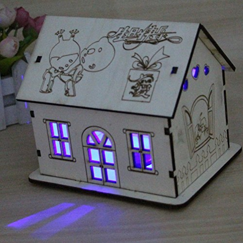 Plastic House Bank - Piggy bank wooden piggy bank creative cute lantern house shaped piggy bank-A 15x12x13cm(6x5x5)