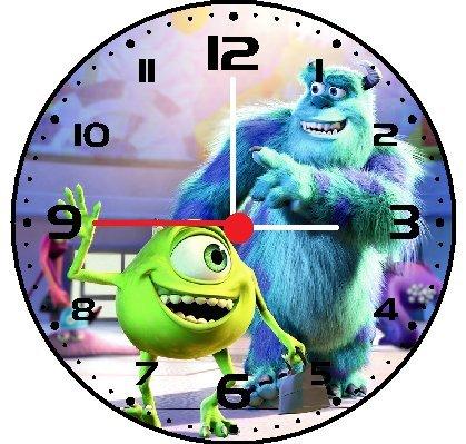 Amazon Com Monsters Inc Wall Decor Clock Home Kitchen