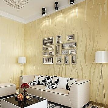Contemporary Wallpaper Art Deco 3D Simple Modern Wallpaper Wall ...