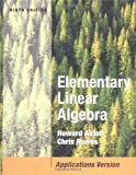img - for Elementary Linear Algebra with Applications by Howard Anton (2005-01-14) book / textbook / text book