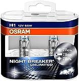 OSRAM NIGHT BREAKER UNLIMITED H1, Halogen-Scheinwerferlampe, 64150NBU-HCB, 12V PKW, Duobox (2 Stück)