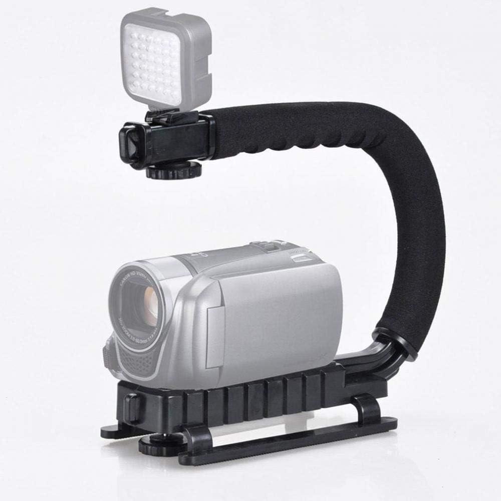 U Shape Bracket Grip Portable Video Handheld Camera Stabilizer with Removable Hot Shoe C-Type Bracket Type B