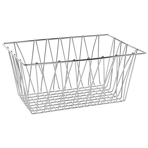 HUBERT Rectangular Chrome Plated Steel Wire Basket - 18