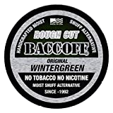 BaccOff, Original Wintergreen Rough Cut, Premium Tobacco Free, Nicotine Free Snuff Alternative (1 Can)