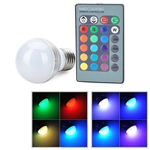 Bombilla LED RGB de globo mágico de color con mando a distancia de 24 teclas (