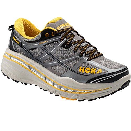 D,M Mens HOKA ONE ONE BONDI 6 Running Shoes BLACK // ANTHRACITE Bant NEW