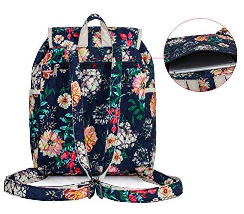 Backpack for Teenage Girls, Floral College Student School School Canvas Bag Knapsack by Hikker-Link (Image #2)