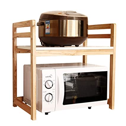 Microwave Oven Rack Seasoning Kitchen Storage Bathroom Vanity Multi Layer