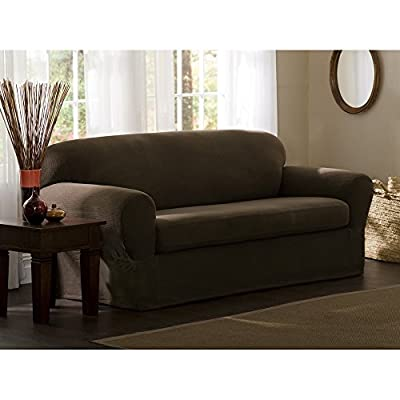 Maytex Stretch Reeves 2-Piece Loveseat Slipcover