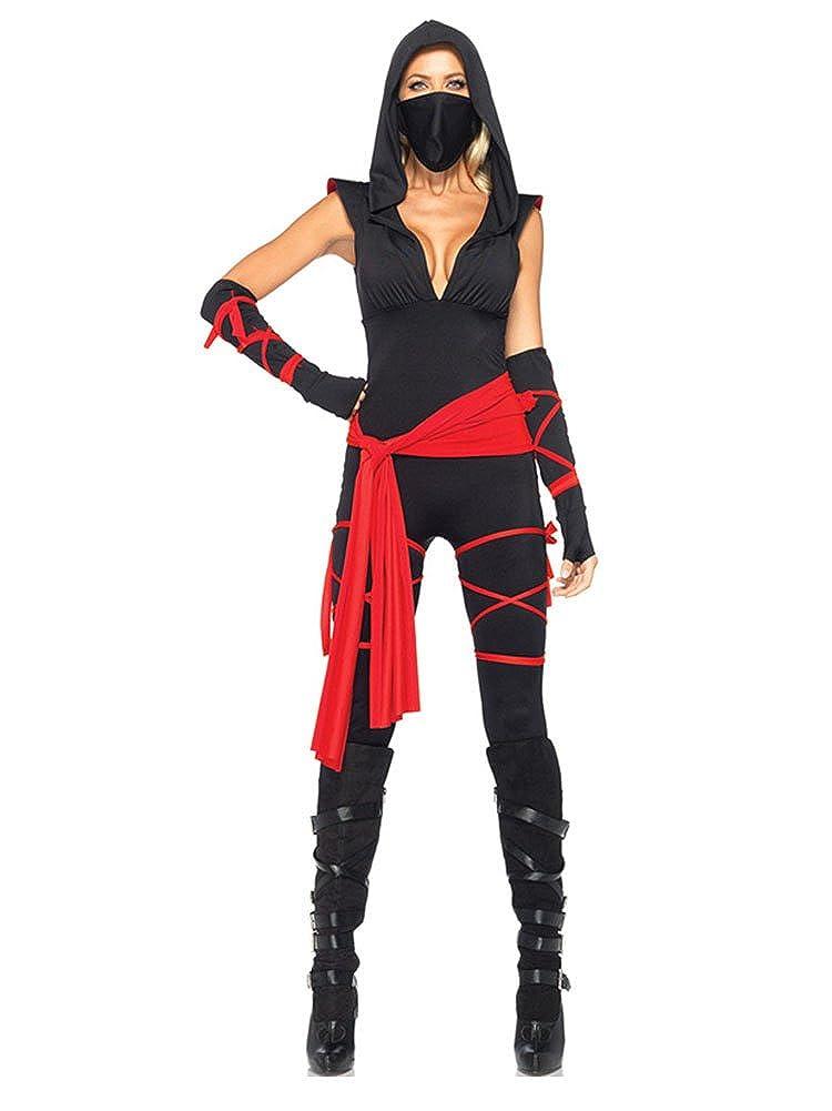 Molly Women Deadly Ninja Warrior Halloween Costume Party Fancy Dress Set