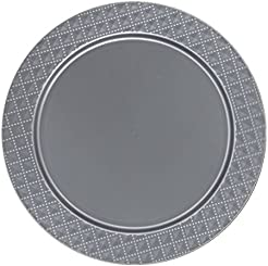 Posh Setting Silver Charger Plates Diamond Design Medium Weight 13 inch Round Plastic Chargers 10 pack  sc 1 st  Amazon.com & Amazon.com: Plastic - Charger \u0026 Service Plates / Plates: Home ...