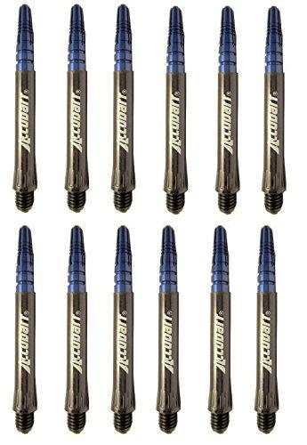 (Accudart Eclipse 2ba (3/16) Medium Dart Shafts - 4 Sets of 3 Shafts (12 Shafts Total) (Blue))