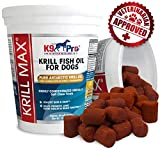 krill oil for pets - Krill Max Fish Oil for Dogs - Soft Moist Tasty 350mg Omega 3 for Dogs - Best Dog Joint Supplement with DHA EPA Plus Astaxanthin and Vitamin E Supplements - for Hip Joints Skin and Coat