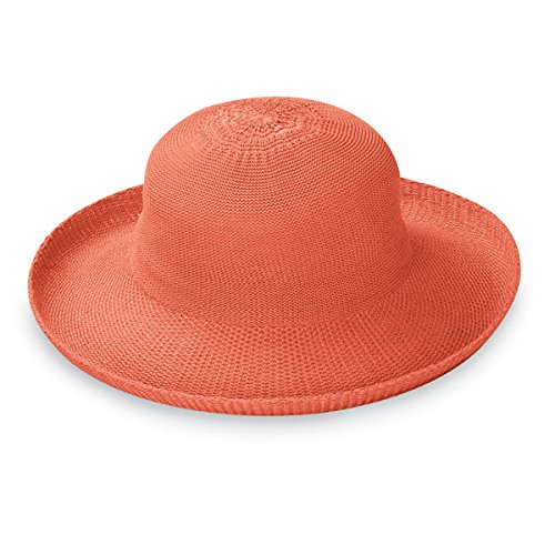 (Wallaroo Hat Company Women's Victoria Sun Hat - Coral - Ultra-Lightweight, Packable, Modern Style, Designed in Australia.)