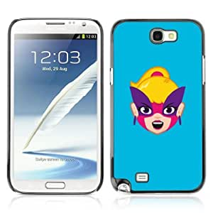 Designer Depo Hard Protection Case for Samsung Galaxy Note 2 N7100 / Happy Face