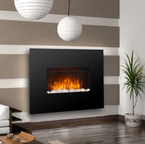 kenley chimenea electrica de pared efecto llama ardiendo