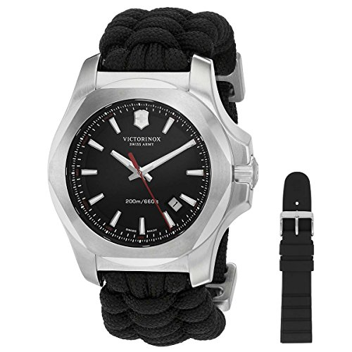 Victorinox I.N.O.X. Black Dial Plastic Strap Men's Watch 2417261