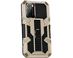 Grandcaser Capa para Poco M3 ultrafina de poliuretano termoplástico macio com suporte telescópico antiqueda e absorção de cho