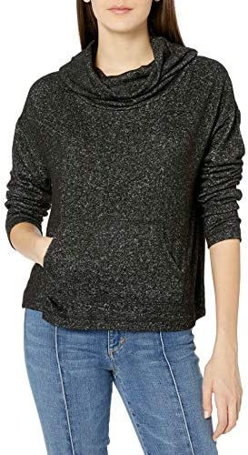 BB Dakota Junior`s Over & Over Cowl Neck Brushed Knit top
