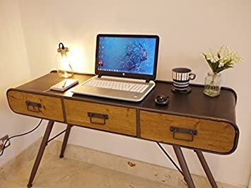 Lovely Retro Industrial Office Desk   3385
