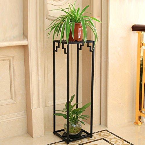 Pallet Structural Rack (GAOYANG Living Room Shelf Multilayer Interior Flower Stand European Iron Art Chlorophytum High Flower Stand Balcony Green Planter Rack Space Saving (Color : Black, Size : 282899cm))