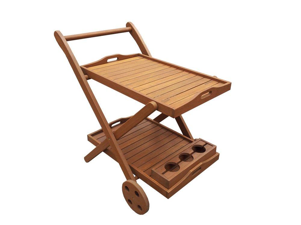 Habitat et Jardin - Desserte en bois exotique Manille - Maple - Marron clair - Chariot de service