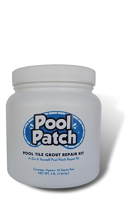 Pool Patch White Pool Tile Grout Repair Kit, 3-Pound, White