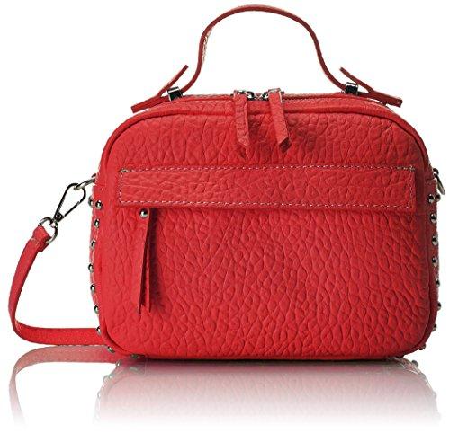 Chicca Borse 8614 - Bolso de mano Mujer Rojo (Red Red)