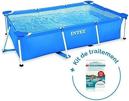 RAVIDAY Pack piscina tubular Intex Metalframe Junior 2.60 x 1.60 x ...