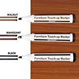 Ecosin Wood Furniture Repair Pen Marker Pen Wax Scratch Filler Remover Repair Fix 3Pc Use on Wood, Laminate, Flooring & Furniture,for Stains, Scratches, Wood Floors (B)