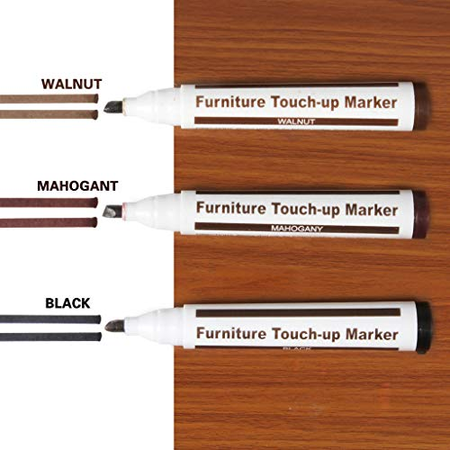 Weite 3 Pieces Furniture Repair Marker Set, Wood Stain Scratch Fix Pen for Stains, Scratches, Wood Floors, Tables, Desks, Carpenters, Bedposts, Touch Ups (B) by Weite (Image #1)