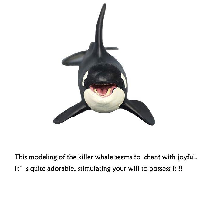 Oncpcare Decoración para Acuario The Orca Blackfish, la Figura de Ballena más Fuerte para Matar Peces, Adorno de Acuario, Paisaje de Peces, ...