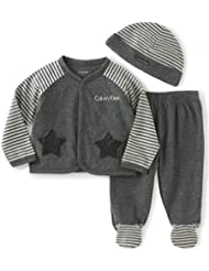 Calvin Klein Baby Boys' Cardigan with Footed Pants Set