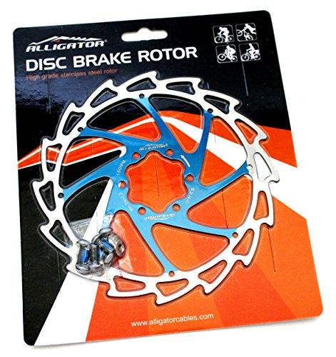 Lightweight Brake Rotors (Alligator Light Weight Wind-Cutter Disc Brake Rotor, Blue, 160mm)