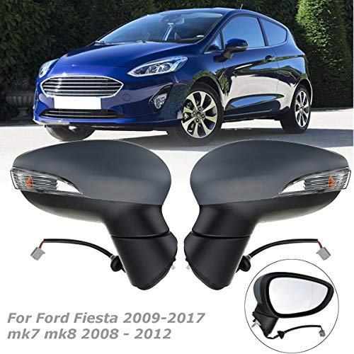 Right/Left Car Door Electric Wing Mirror Heated Driver Or Passenger Side for Ford for Fiesta 2009-2017 mk7 mk8 2008-2012 ()