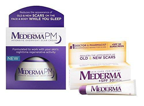 Mederma PM Intensive Overnight Scar Cream Jar & Scar Cream Plus