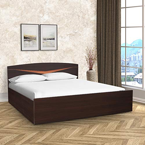 HomeTown Viking Engineered Wood Box Storage King Size Bed in Denever Oak Colour