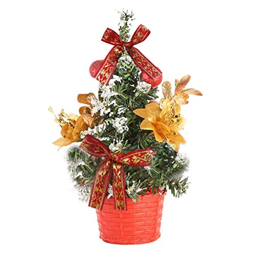 Gerbrief Artificial Tabletop Mini Christmas Tree Decorations Festival Miniature Tree 20cm Fashion