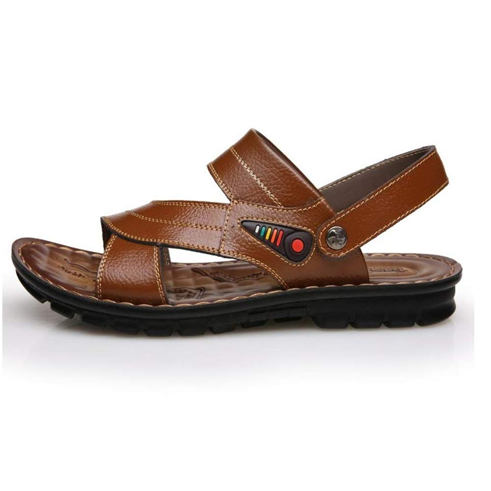 Wangcui Sommer-Männer Sandalen Casual Komfort Dual-Use-Strand Sandalen und Größe Hausschuhe (Farbe : Braun, Größe und : 39 1/3 EU) Braun 254d39