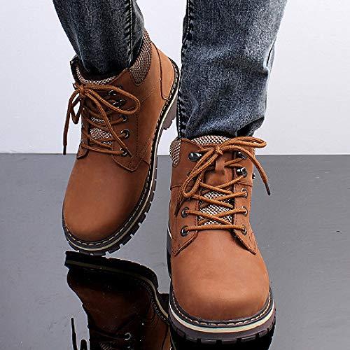 Allacciatura Allacciatura Scarpe Boots Lavoro Top Antiscivolo Uomo in per High High High Stivali Desert Confortevole Plus Martin Brown Casual Cotone da Scarpe Xvw0xnqIEp