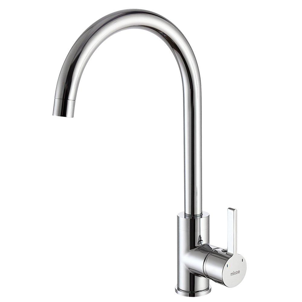MICOE 360° Schwenkbar Küche Wasserhahn für Spüle Einhebel ...